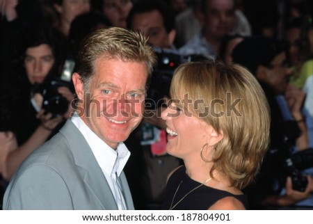 William H Macy and his wife Felicity Huffman at the Jurassic Park 3 Screening, NYC, 7/17/2001