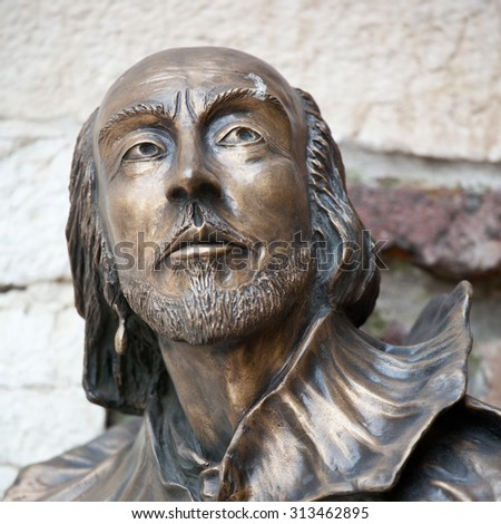 William Shakespeare statue in Verona, Italy - stock photo