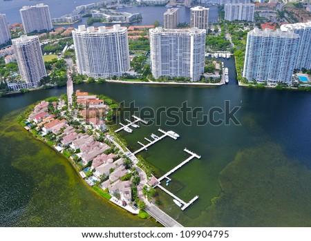 Williams Island, Aventura, Florida, USA - stock photo