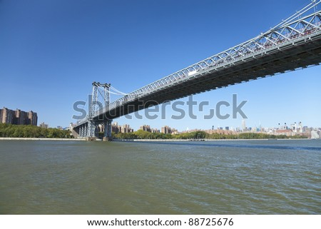 Williamsburg Bridge in New York and The Uptown