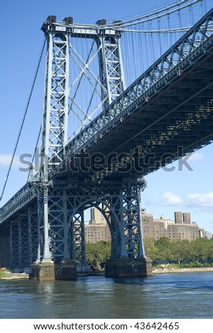Williamsburg Bridge in New York, USA. vertical photo