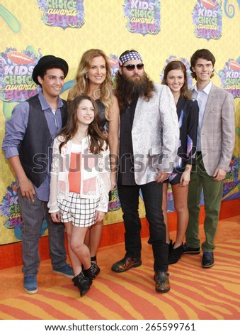 Willie Robertson and Korie Robertson at the Nickelodeon's 27th Annual Kids' Choice Awards held at the USC Galen Center in Los Angeles on March 29, 2014 in Los Angeles, California.
