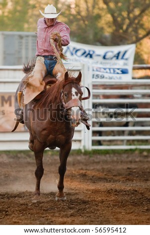 WILLITS, CA - JULY 3: Participant at the Willits Frontier Days, California's oldest continuous rodeo, held July 3, 2010 in Willits, CA. - stock photo
