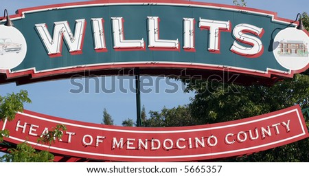 willits sign - stock photo