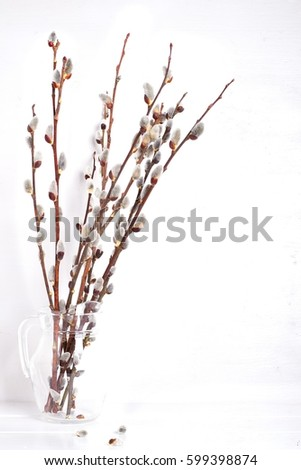 Willow Branches Vase Stock Photo Royalty Free 599398874 Shutterstock