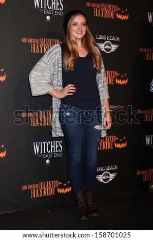 Willow Shields at the 8th Annual LA Haunted Hayride Premiere Night, Griffith Park, Los Angeles, CA 10-10-13