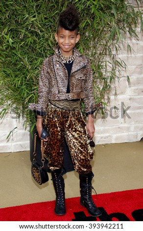 """Willow Smith at the Los Angeles Premiere of """"The Karate Kid"""" held at the Mann Village Theater in Westwood, California, United States on June 7, 2010.  - stock photo"""