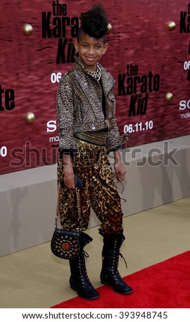 """Willow Smith at the Los Angeles Premiere of """"The Karate Kid"""" held at the Mann Village Theater in Westwood, USA on June 7, 2010.  - stock photo"""