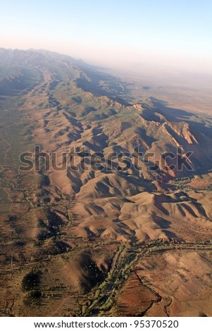Wilpena Pound aerial view. Flinders Ranges National Park. Australia