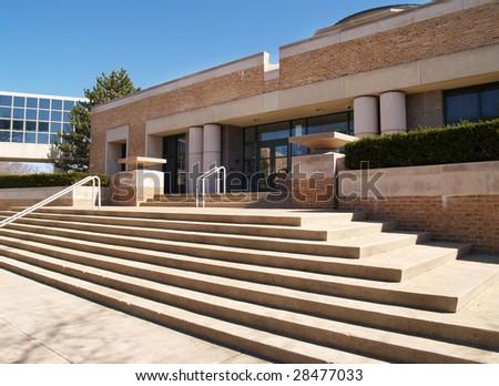 Wilson High School in Wilson Borough, Pennsylvania - stock photo