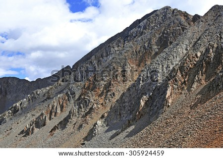 Wilson Peak, a Colorado 14er in the San Juan Mountains, Colorado Rockies - stock photo