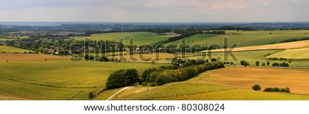 wiltshire downs - stock photo
