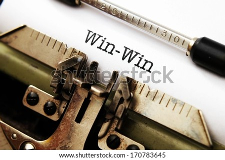 Win win  concept - stock photo