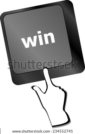win word on computer keyboard key button - stock photo