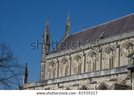 Winchester  Cathedral  Hampshire, England, United Kingdom - stock photo