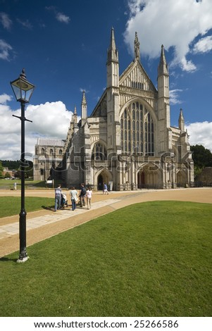 Winchester Cathedral on a beautiful day