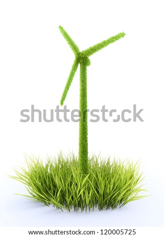 Wind and renewable energy concept - stock photo