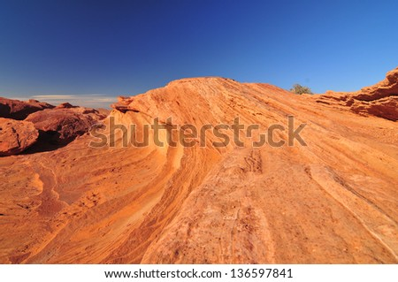 Wind and sand sculpted rock face in the Northern Arizona desert