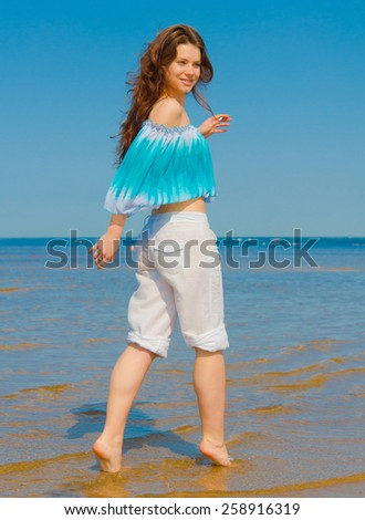 Wind Beach Relaxing  - stock photo
