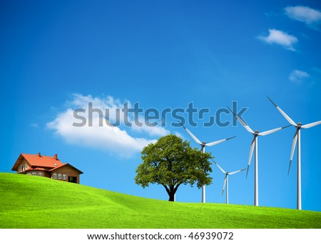 Wind ecology - stock photo