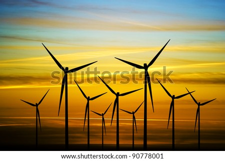 Wind energie - stock photo
