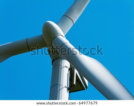 Wind energy alternative energy through wind power with blue Hmmel