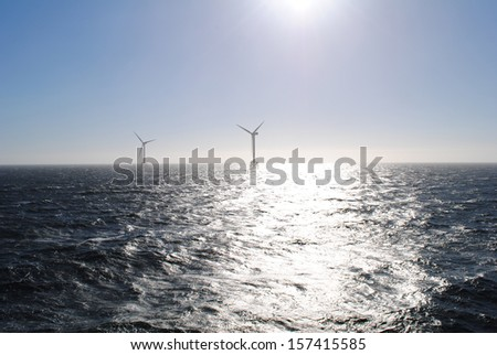 Wind Energy Offshore - stock photo