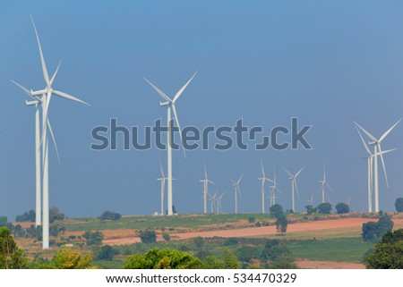 Wind energy turbines are one of the cleanest, renewable electric energy source.