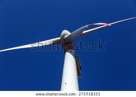 Wind energy with the blue sky