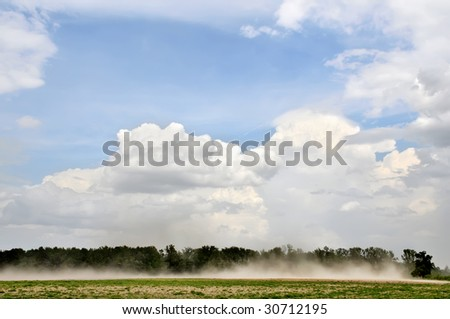 Wind Erosion Horizontal Landscape with Lots of Copy Space - stock photo