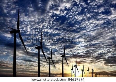 Wind Farm Energy - stock photo