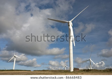 Wind farm in Cornwall UK