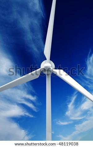Wind farm: Industrial Eolic installation - stock photo