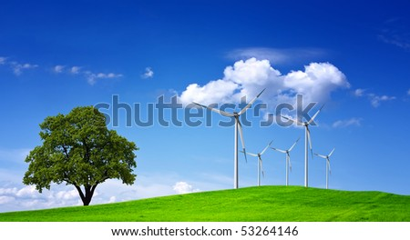 Wind Field - stock photo