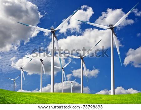 Wind field - stock photo