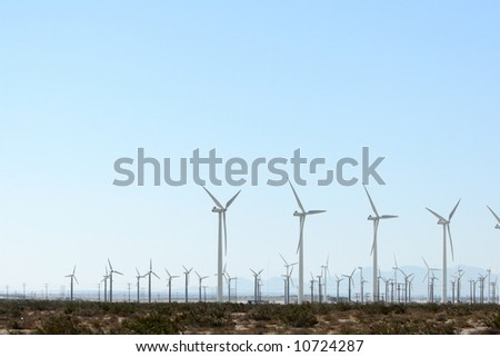 Wind fields in the desert of California
