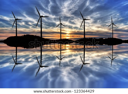 Wind force - stock photo