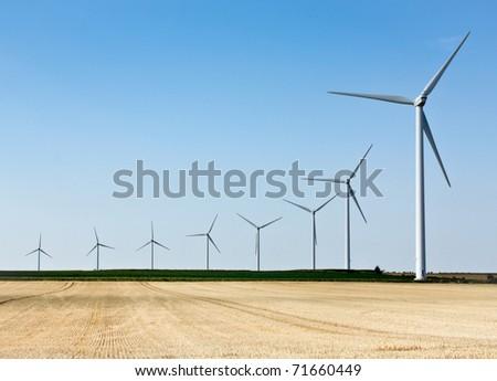 Wind generator field - Renewable Energy Sources - stock photo