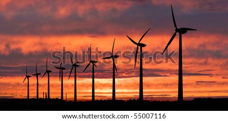 Wind generators farm