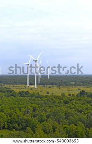 Wind mill power plant in Estonia