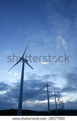 Wind mills, ecological electric energy, environment