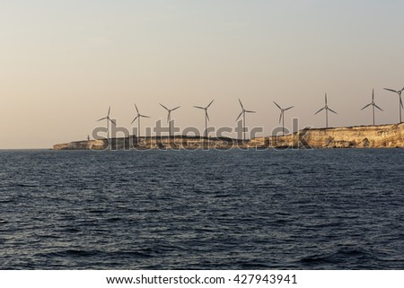 Wind Mills on Tenedos Island