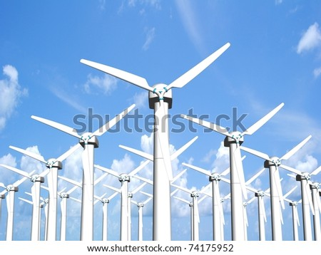Wind mills, renewable energy.