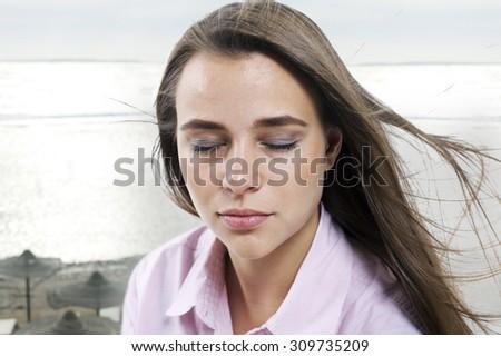 Wind on the beach. - stock photo