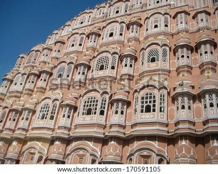 Wind Palace in Jaipur, India - stock photo
