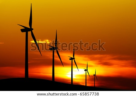 Wind Planet - stock photo