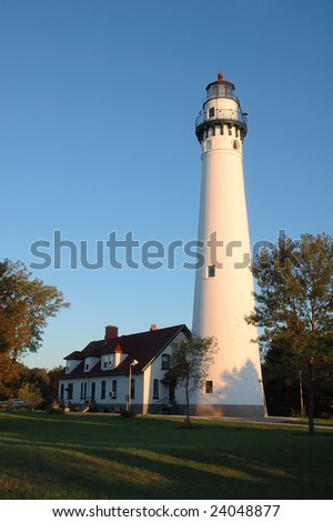 Wind Point Lighthouse in Racine, Wisconsin