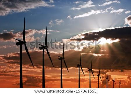 Wind power energy - stock photo