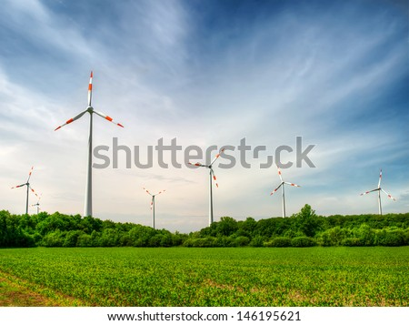 Wind Power Engineering - stock photo