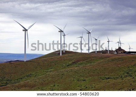 Wind Power Farm - stock photo
